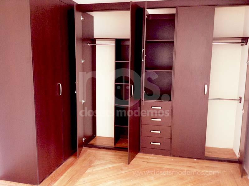 Closet en escuadra 1 nos closets modernos for Catalogo de closets modernos