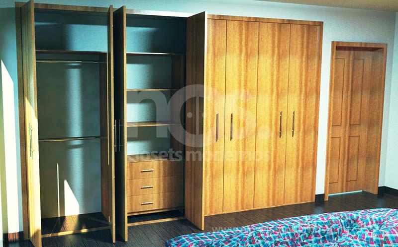 Closets economicos nos closets modernos for Catalogo de closets
