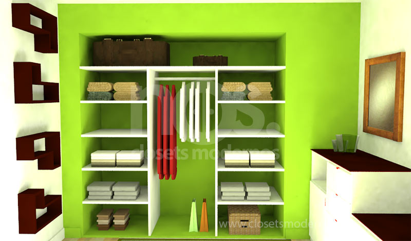 Closet interior 10 nos closets modernos for Closet de madera modernos pequenos
