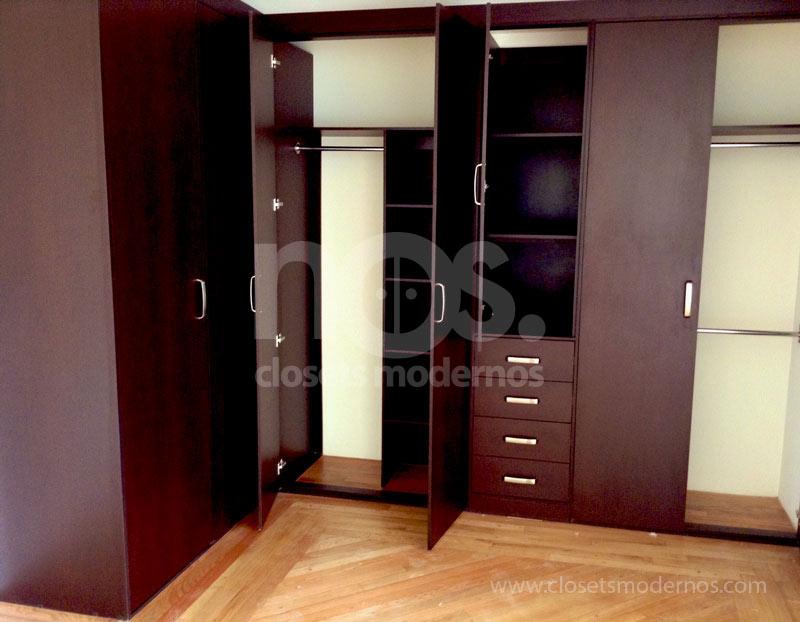 Closet en escuadra 4 nos closets modernos for Closet para zapatos modernos