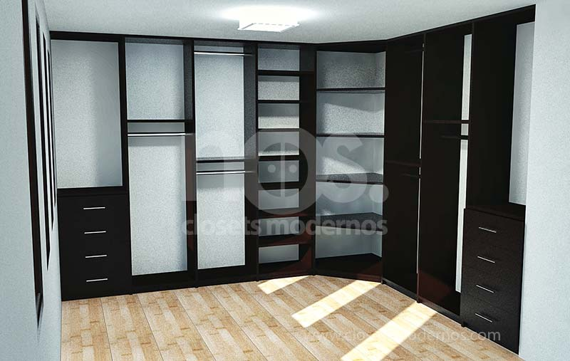 Modelo de vestidor 1 nos closets modernos for Walking closet modelo