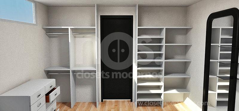 Dise o de closets y vestidores modernos en df y estado de for Modelos de zapateras en closet
