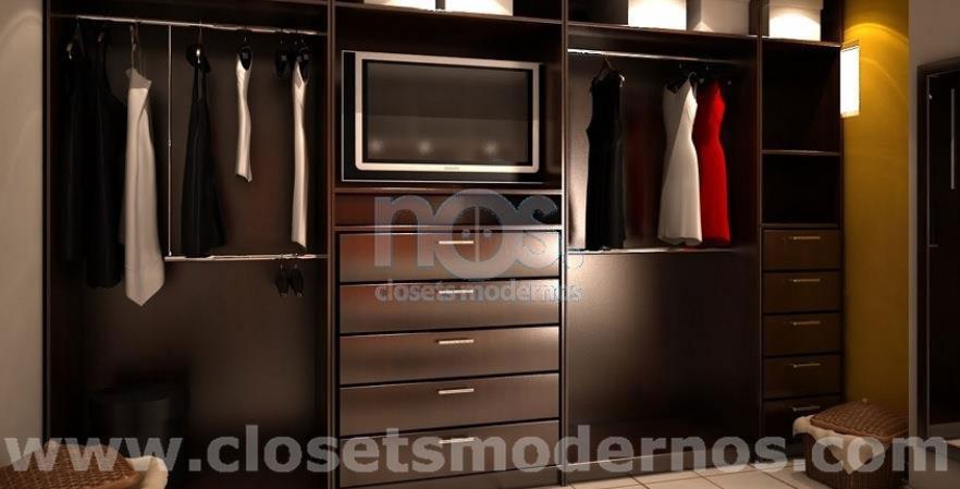 Modelo de vestidor 7 nos closets modernos for Modelos de closets para dormitorios modernos