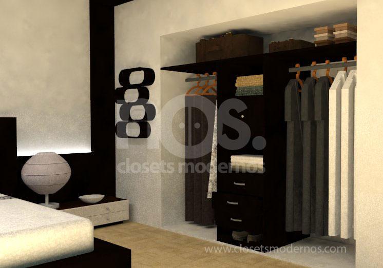 diseño de closets y vestidores modernos df