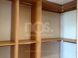 vestidores pequeños de madera modernos