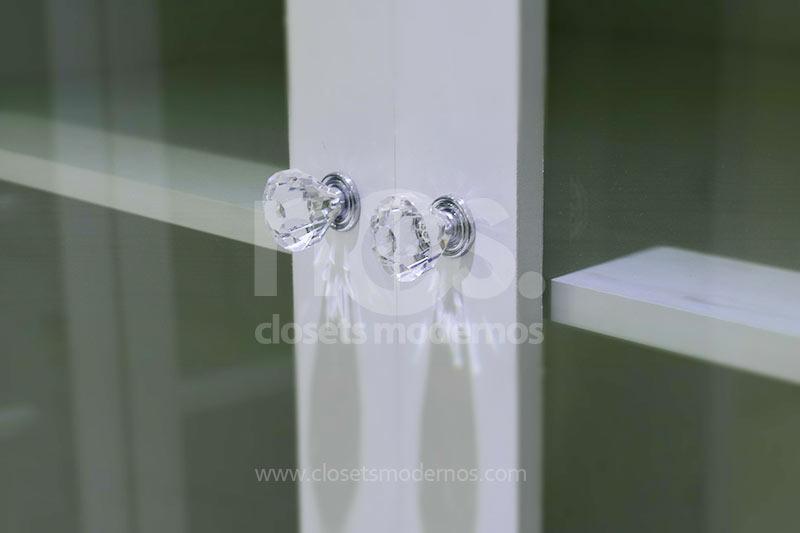 Vestidores lujosos modernos con puertas de vidrio para mujeres walk in closet NOS Mexico