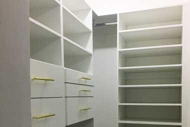 Fabricacion Venta Diseño a la Medida Vestidores Pequeños CDMX Mexico NOS Closets Modernos
